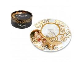 Хп-841-4002 Подсвечник стеклянный средний - коллекция Klimt Kiss