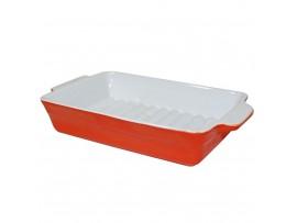 """Цк-336-оранж Тарелка прямоугольная из фарфора GM0057 9"""" Оранжевый"""
