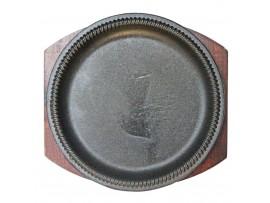 Бр-463 Сковорода чугунная на деревянной подставке № 8