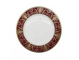 РД-14/56 Тарелка BC.HW 7.5 PLATE 6291010001352 шт (тарелки круглые штучные фарфоровые с красной каймой золотым узором)