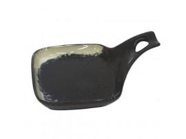 """КК-37 Коричневая керамика салатница с ручкой """"10"""""""