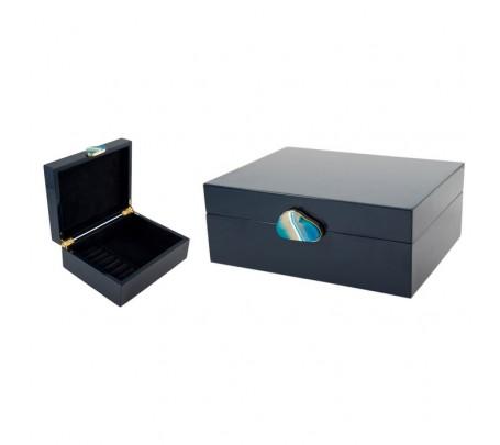 238107 Шкатулка для ювелирных украшений 23*18*9см (шкатулки деревянные синие)
