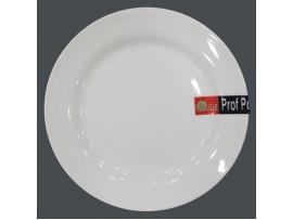 PD004 Тарелка круглая из фарфора №7   17,78 см (тарелки круглые штучные фарфоровые белые)