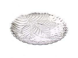 10288-Р Тарелка закал. СУЛТАНА разм: 240мм по 6шт Pasabahce (набор тарелки тарелок круглые стеклянные в форме листка)