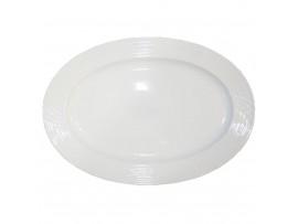 H2741  Овальная тарелка для рыбы, диам.12 (тарелки овальные штучные керамические белые)