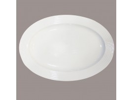 H2742  Овальная тарелка для рыбы, диам.14 (тарелки овальные штучные керамические белые)